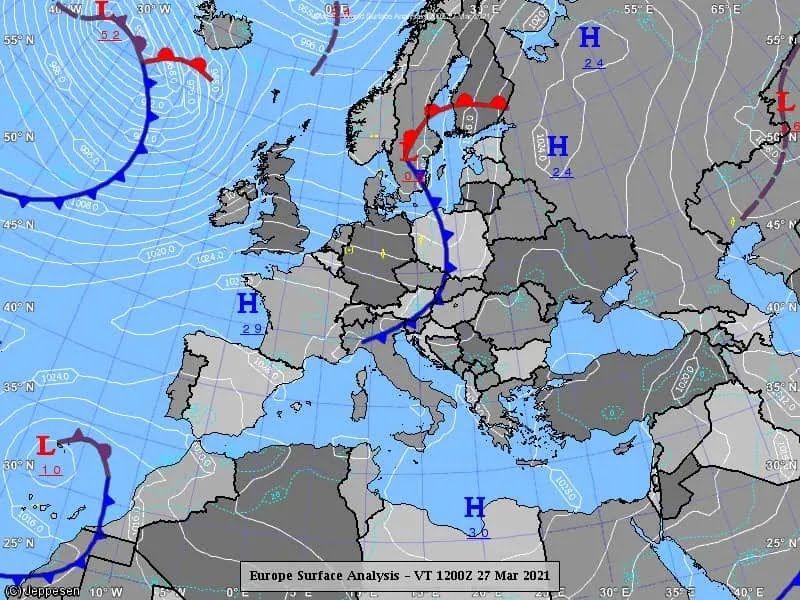 Карта погоды в Украине на 28 марта.