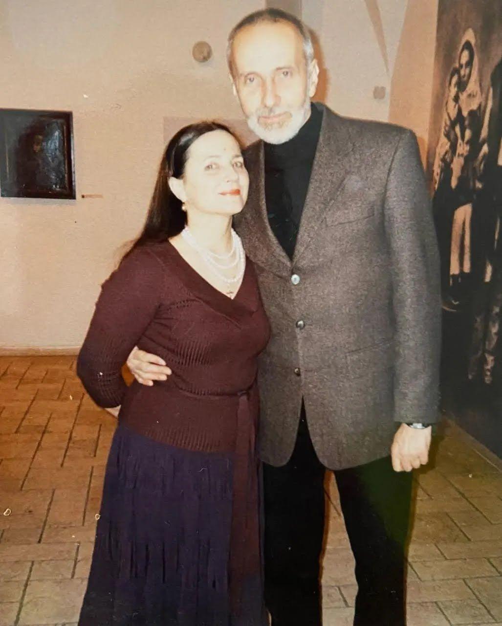 Нина Матвиенко с мужем.