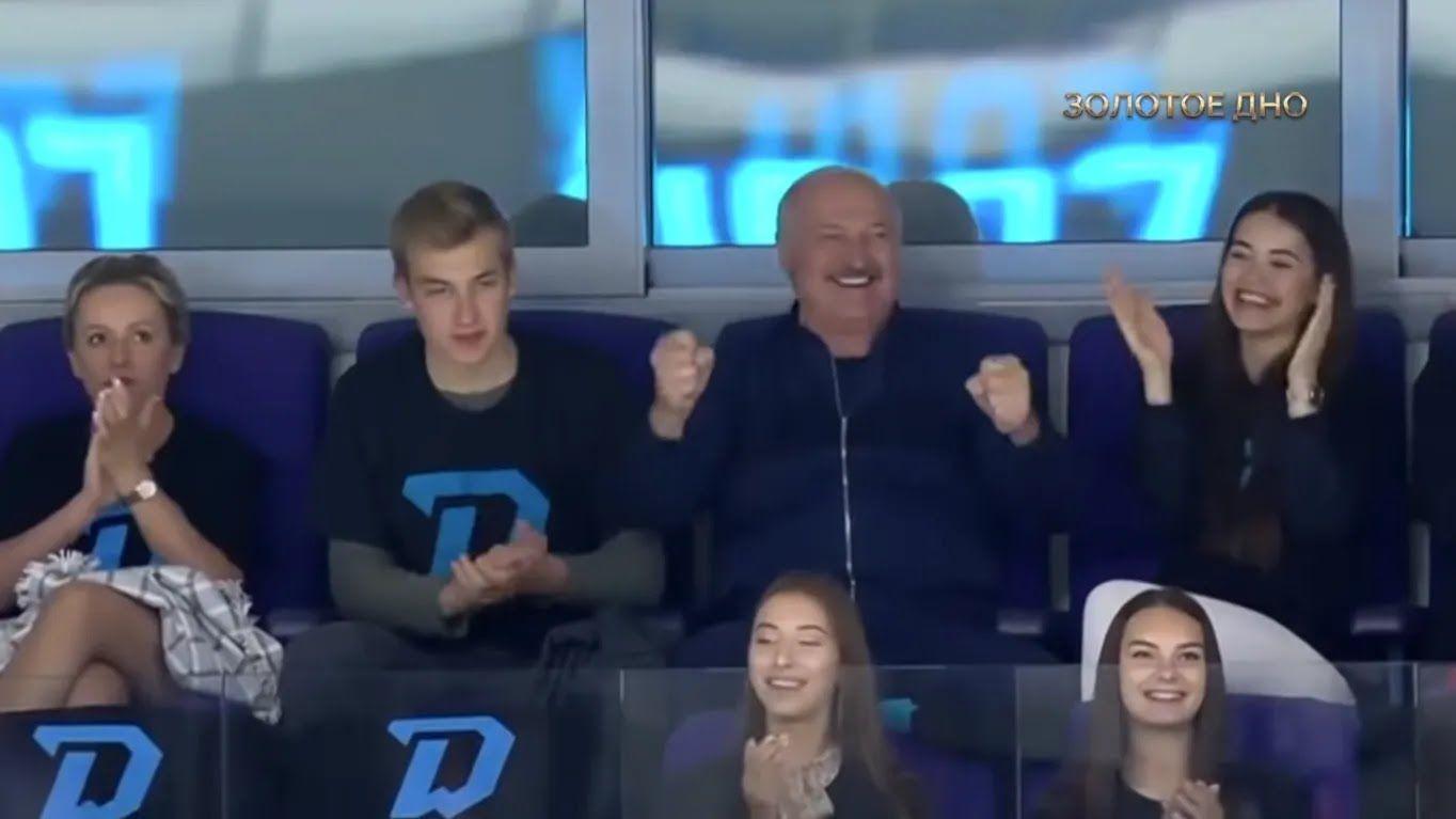 Лукашенко и Василевич на стадионе