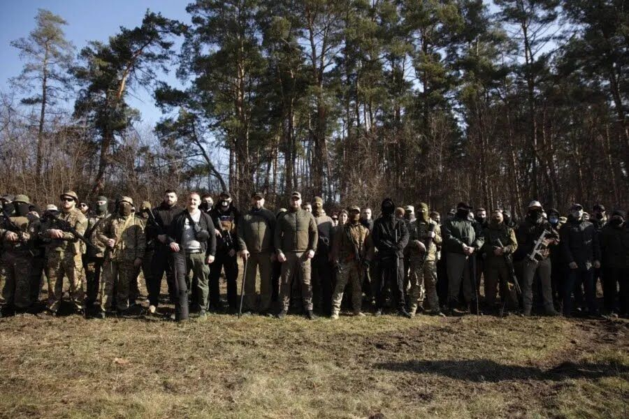 Андрей Белецкий провел военную подготовку в Киевской области