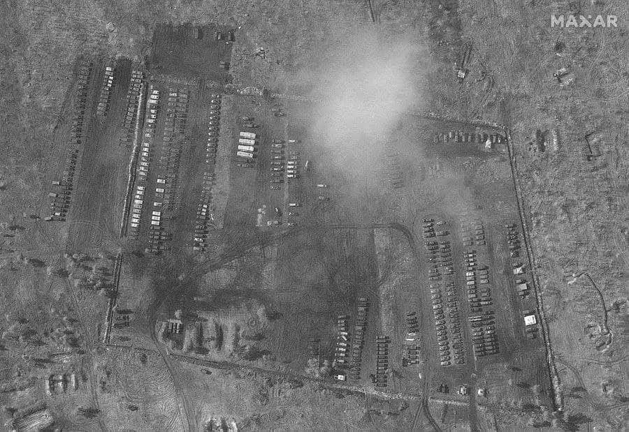 Снимок лагеря из воздуха.
