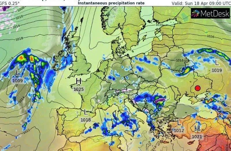 Погода в Украине 18 апреля.