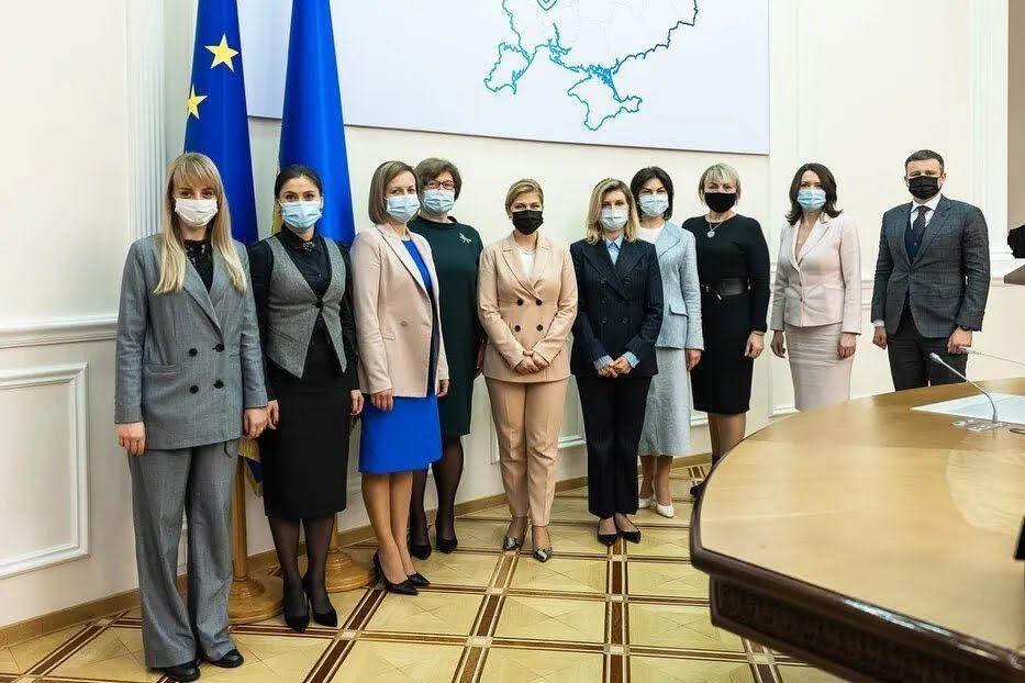 Елена Зеленская на встрече с коллегами