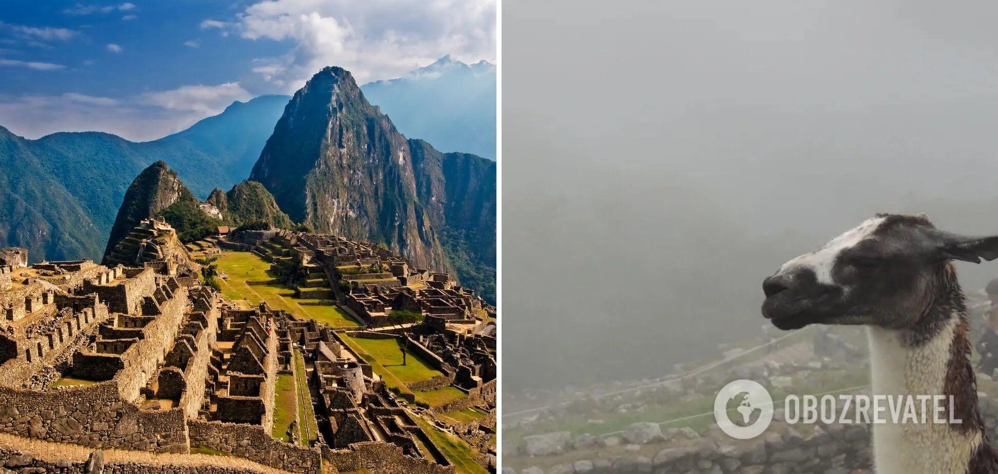 Город инков Мачу-Пикчу сегодня затуманенный