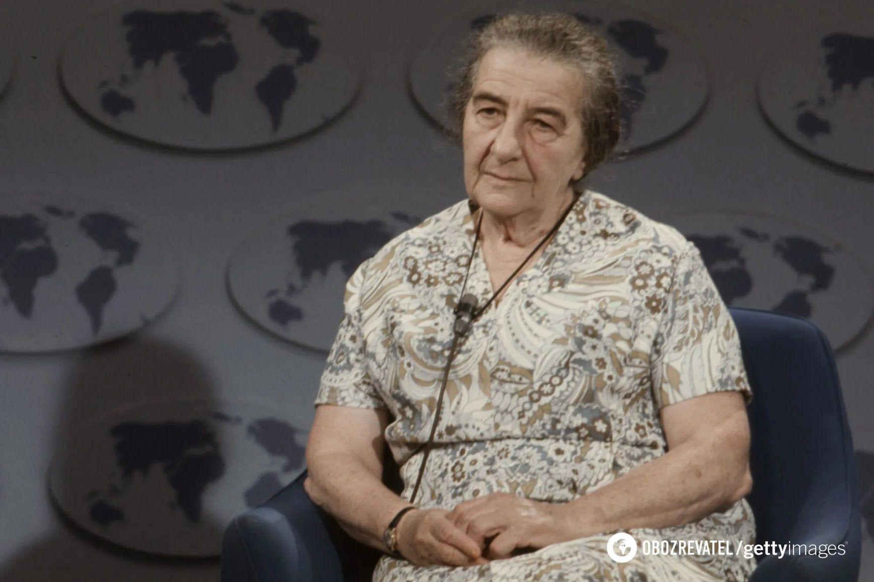 """Голда Меир в эфире передачи """"Вопросы и ответы"""" на телеканале ABC"""