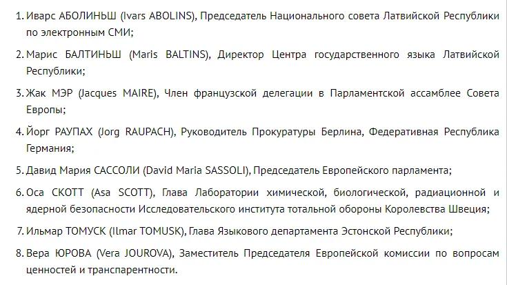 Список чиновников ЕС, которым запрещен въезд в РФ.