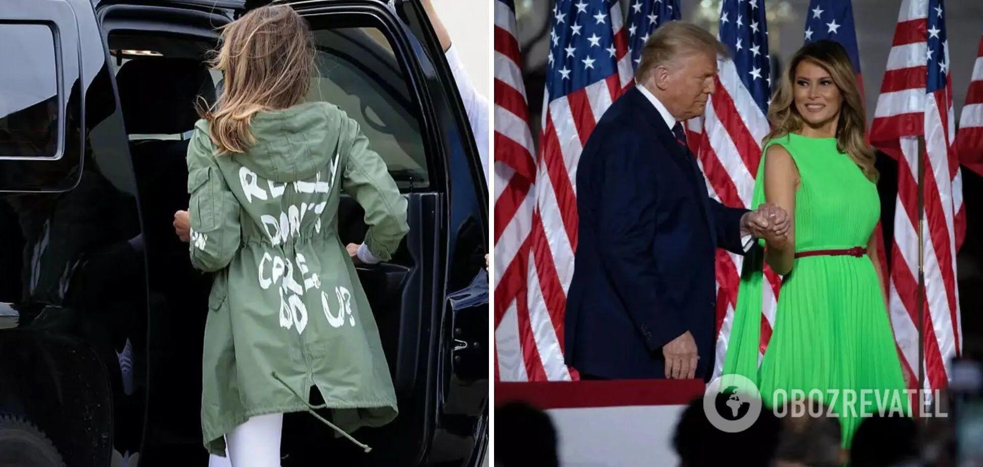 Меланія Трамп неодноразово одягала недоречні вбрання.