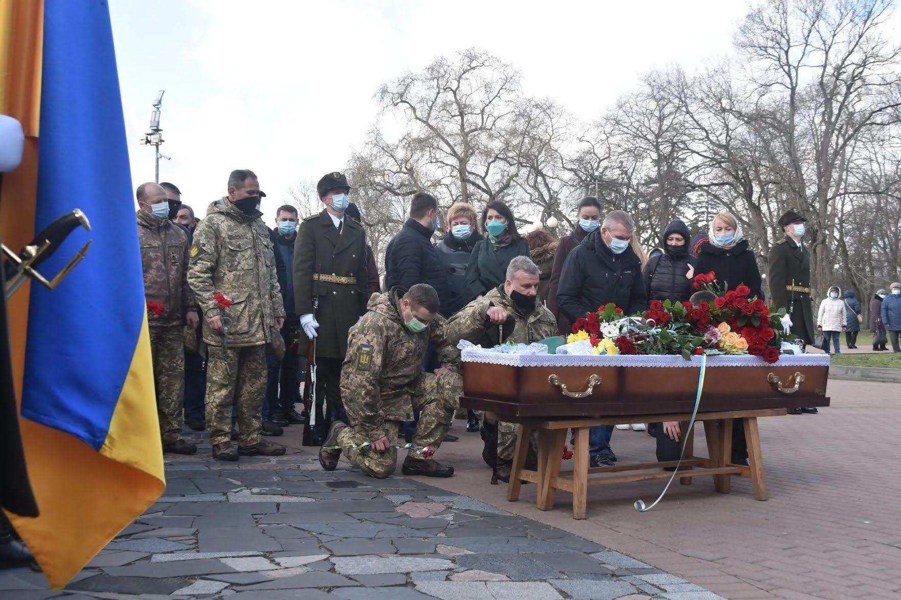 Побратимы отдали последний долг памяти старшему лейтенанту Владимиру Шпаку