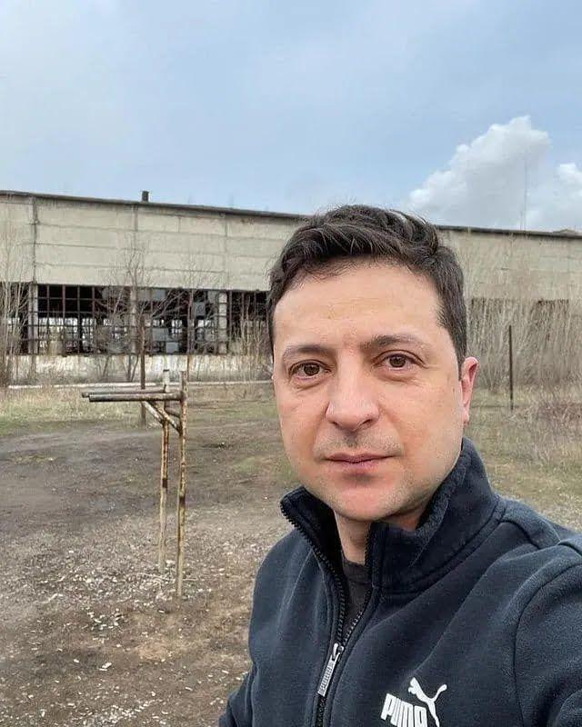 Володимир Зеленський в Авдіївці.