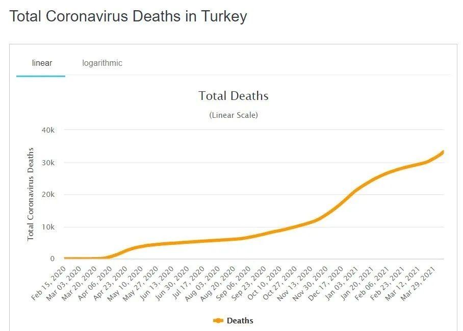 Рост летальных случаев от коронавируса в Турции