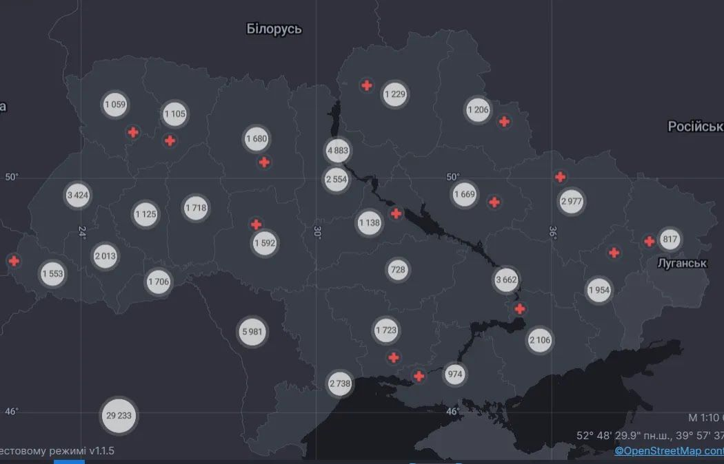 За все время эпидемии в Украине от коронавируса умерло 47 000 человек