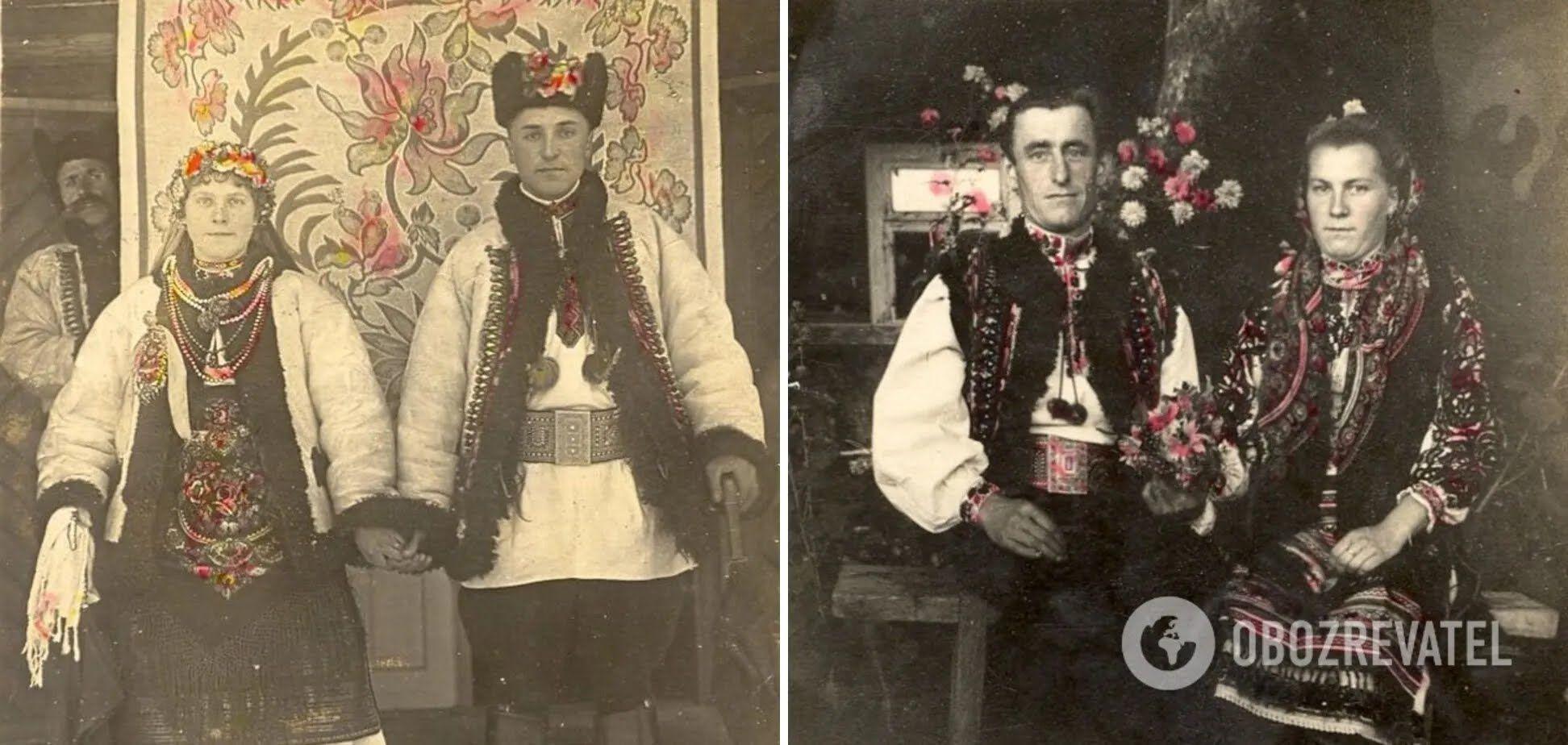 Молодожены на Гуцульщине в 60-70-годах ХХ века.