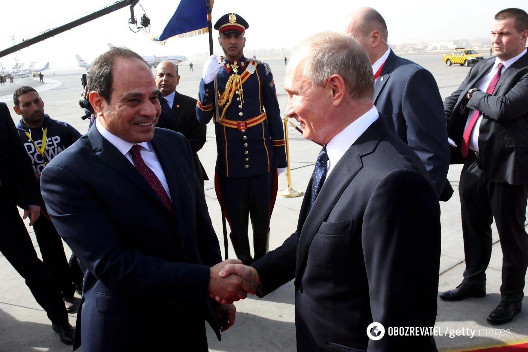 Встреча президента России и президента Египта в Каире, 2017 год.
