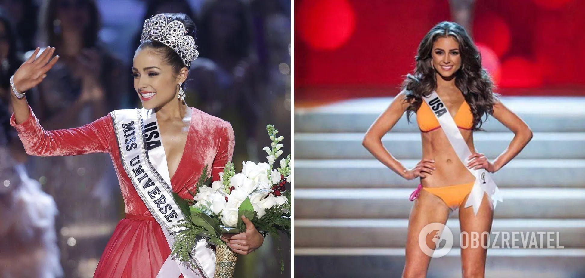 """Олівія Калпо перемогла у конкурсі """"Міс Всесвіт у 2012 році."""