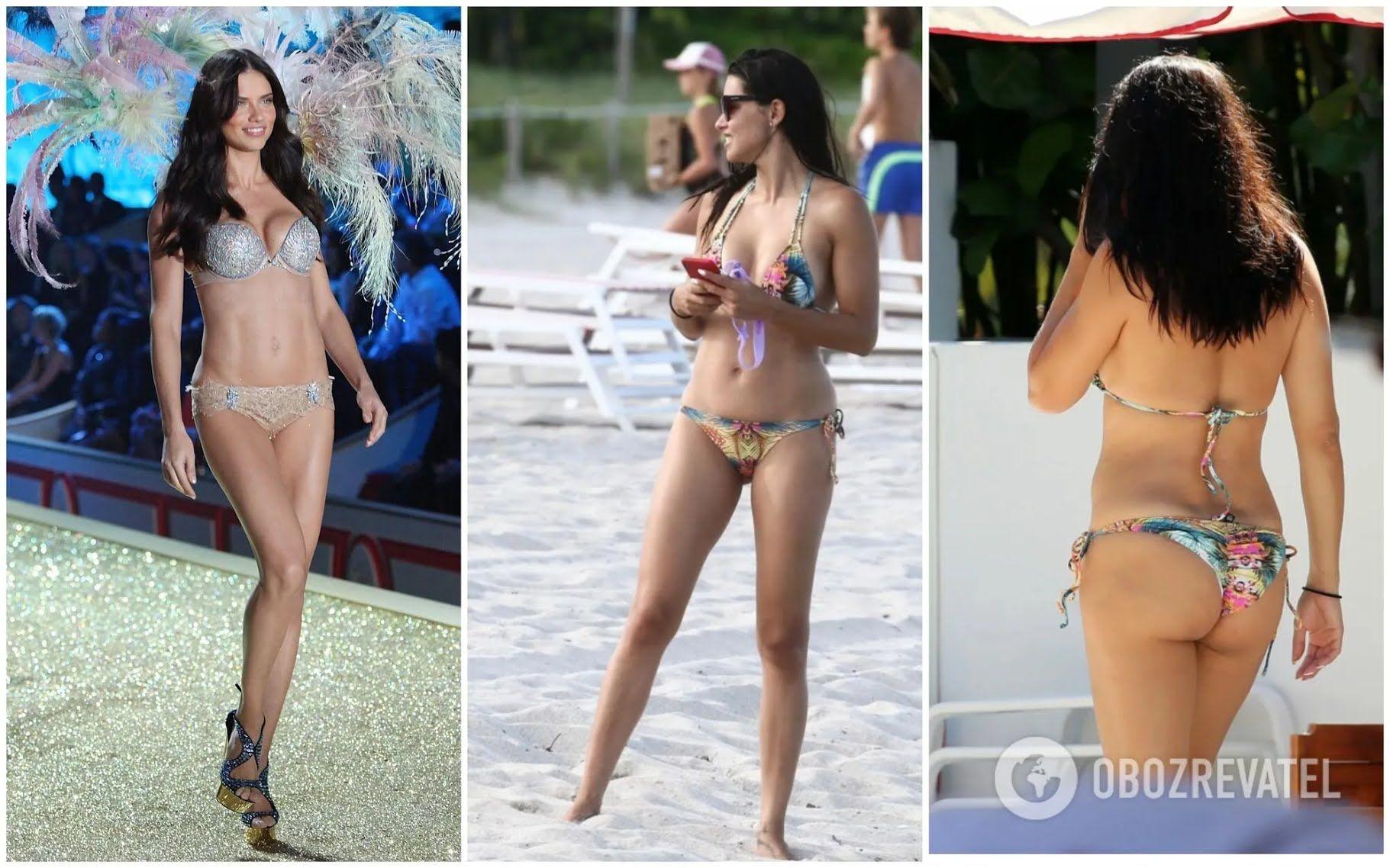 Бывший ангел Victoria's Secret Адриана Лима на пляже Майями.