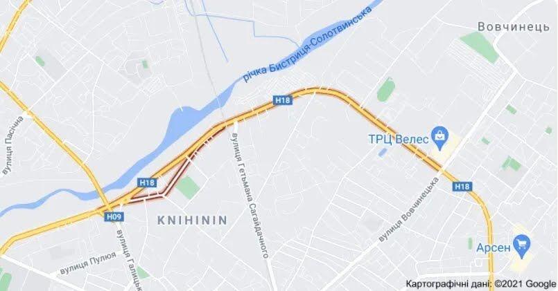 Подія трапилася на вул. Надрічна в Івано-Франківську