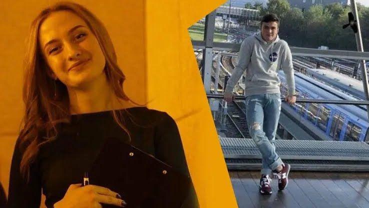 Погибшие Александр Попов и Анастасия Пришко,.
