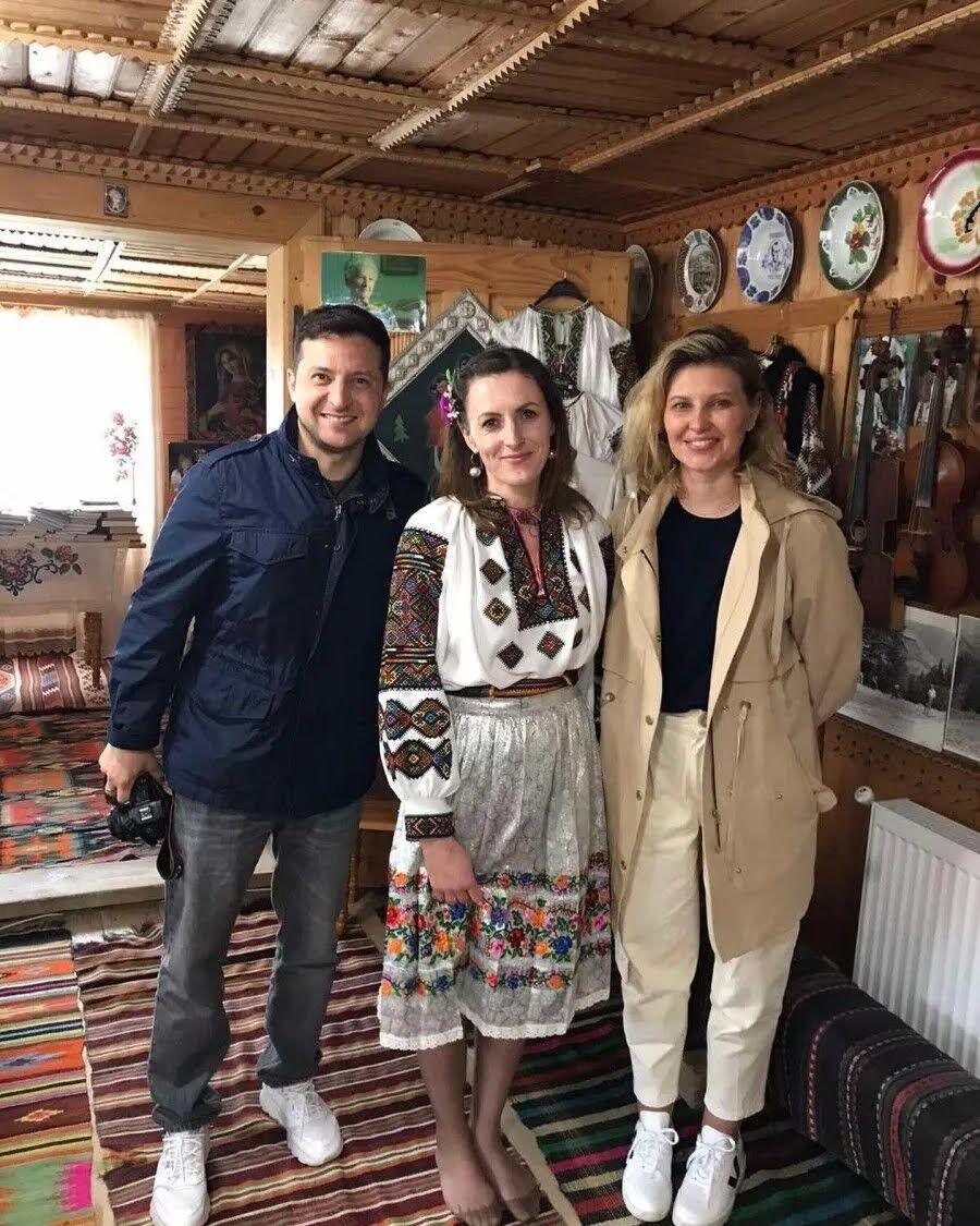 Владимир и Елена Зеленские в Карпатах