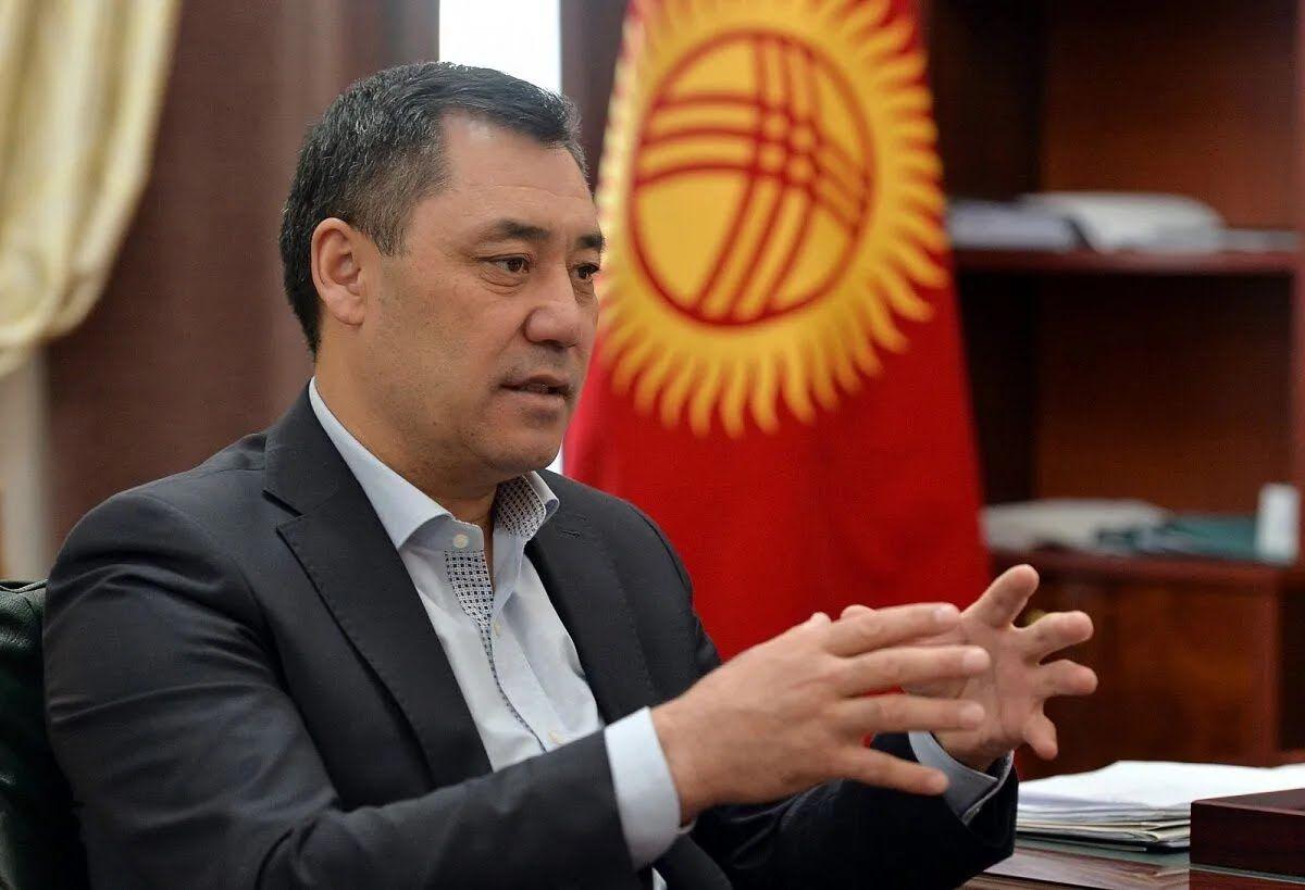 Президент Кыргызстана Садыр Жапаров .