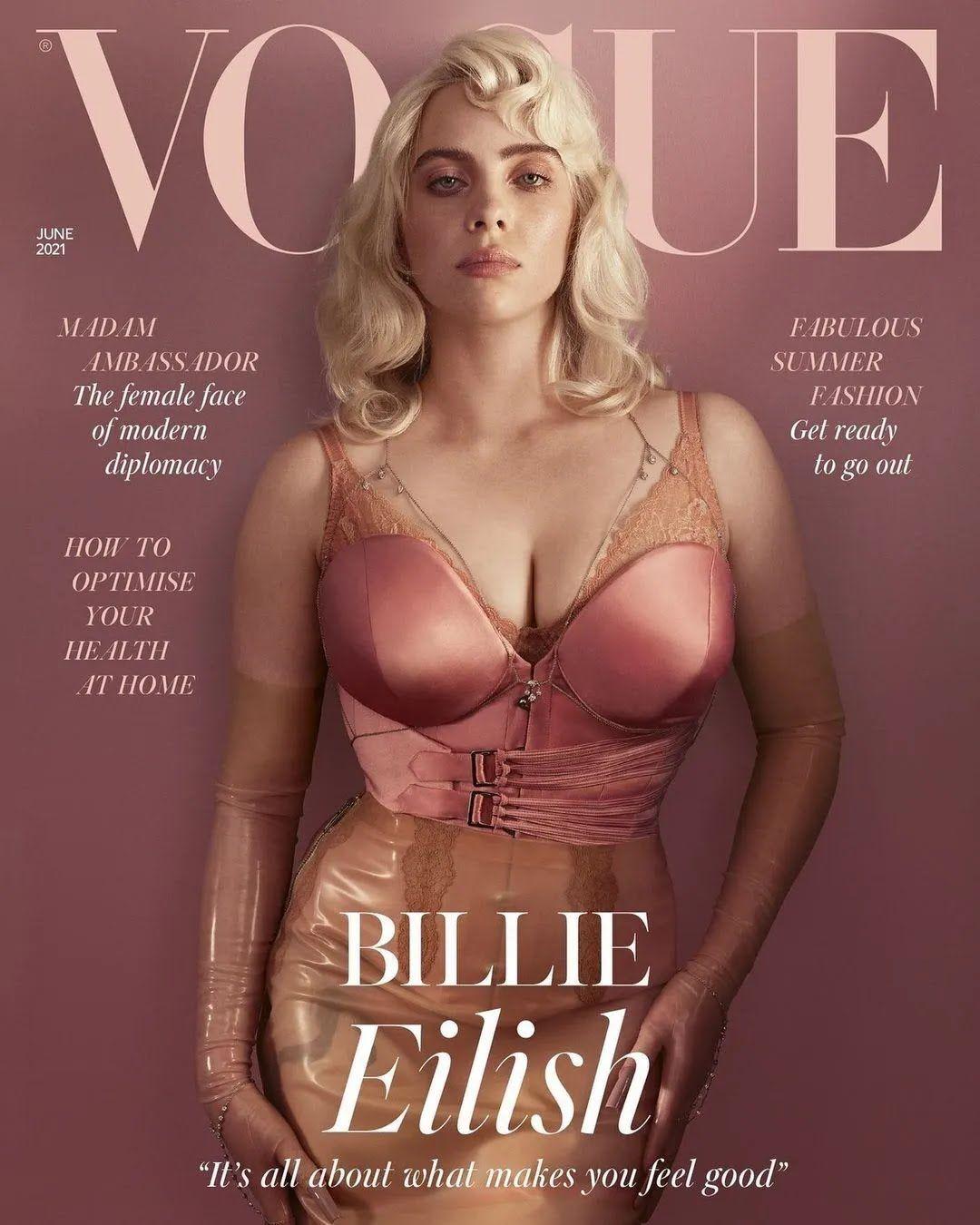 Билли Айлиш украсила обложку Vogue
