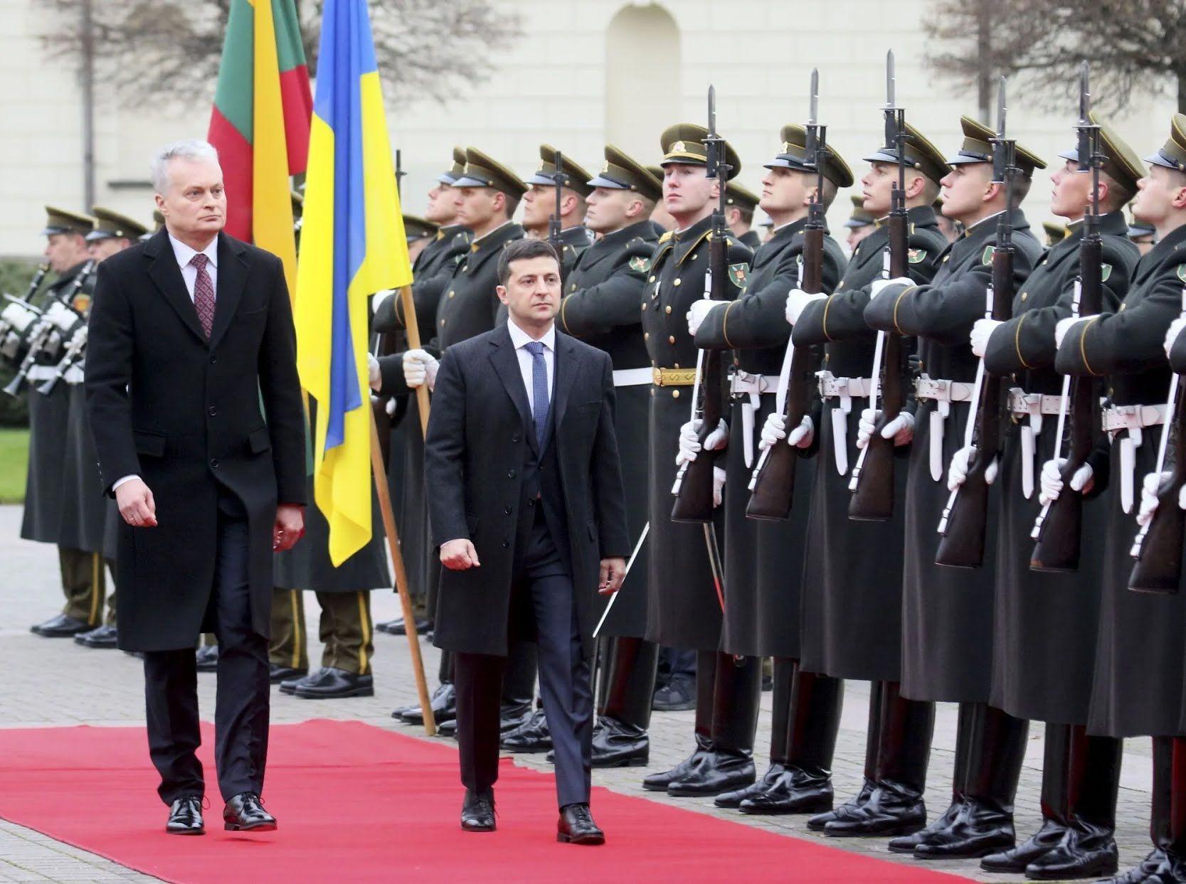 Гитанас Науседа и Владимир Зеленский