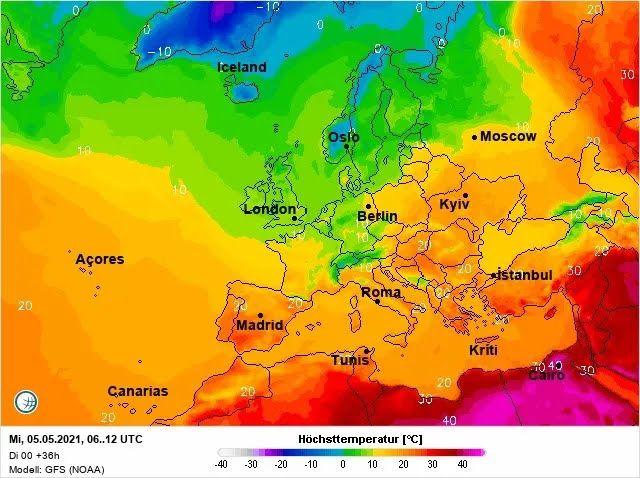 5 мая Украина будет одной из самых теплых в Европе