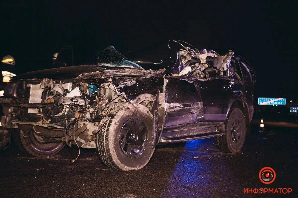 Авария произошла на Донецком шоссе.