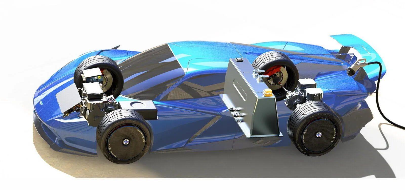 Суперконденсатори знаходяться по сусідству з передньою віссю, а батарея встановлена за спинками крісел водія та пасажира