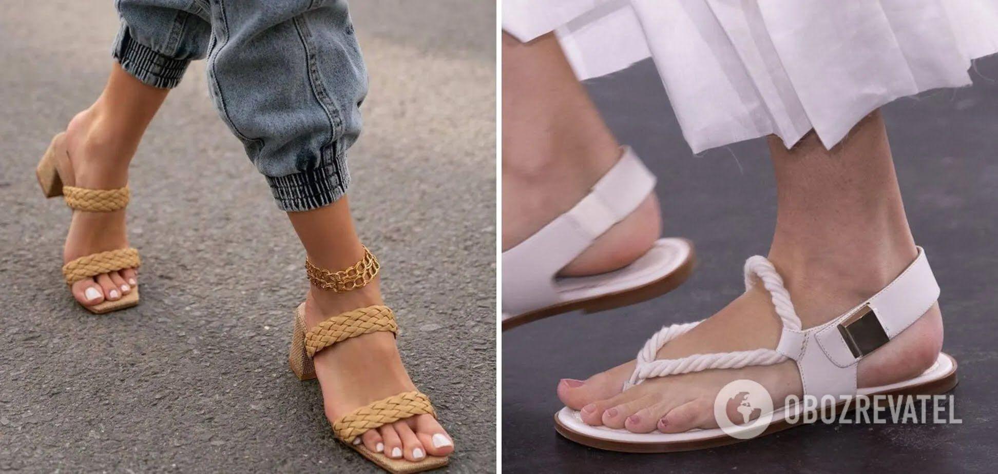 Трендове літнє взуття 2021 – босоніжки з широкими ременями