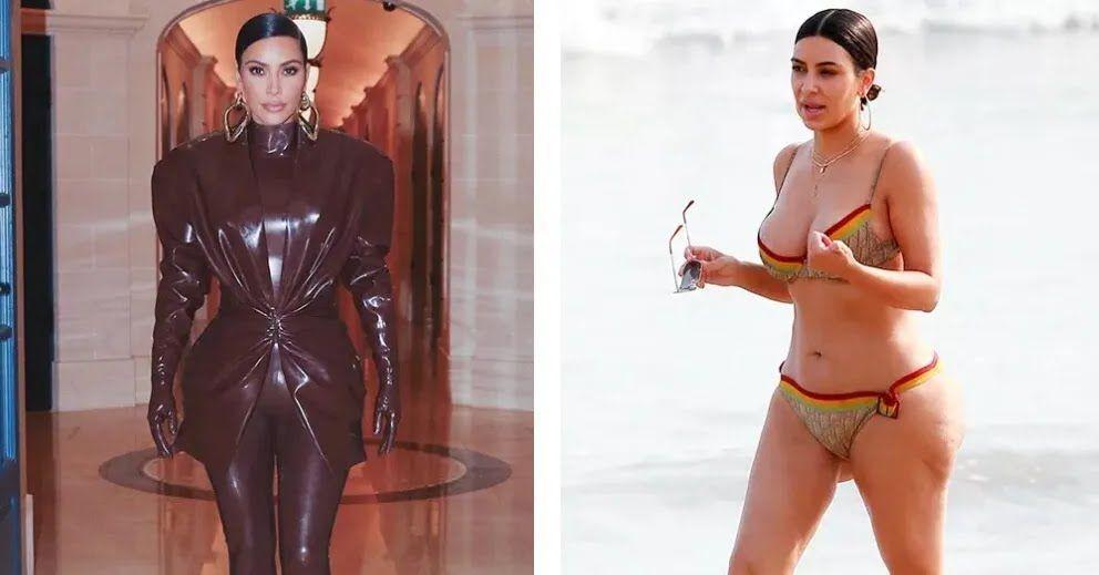Як виглядає Кім Кардаш'ян у вечірньому вбранні і купальнику
