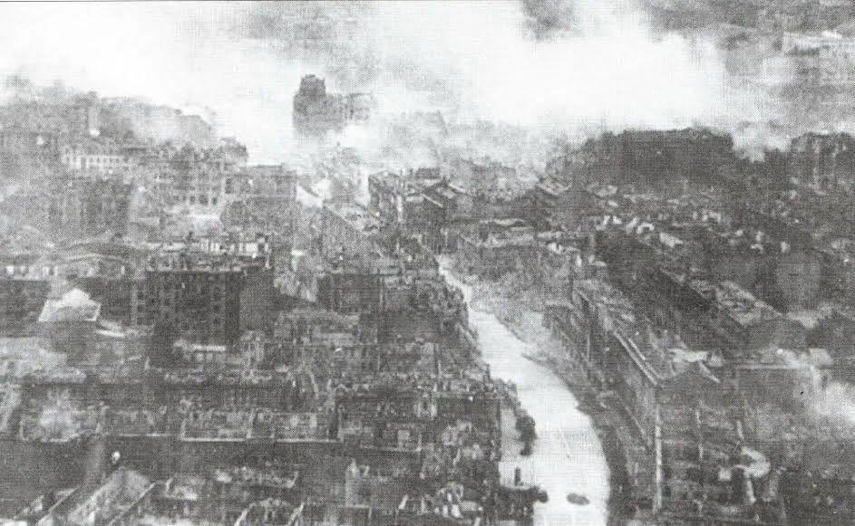 Пожежа 1941 року, практично повністю знищив старий Хрещатик.