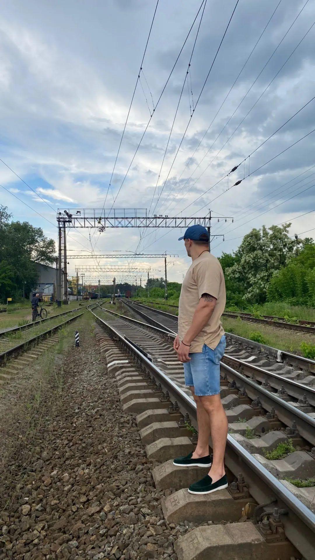Олександр Усик на рейках