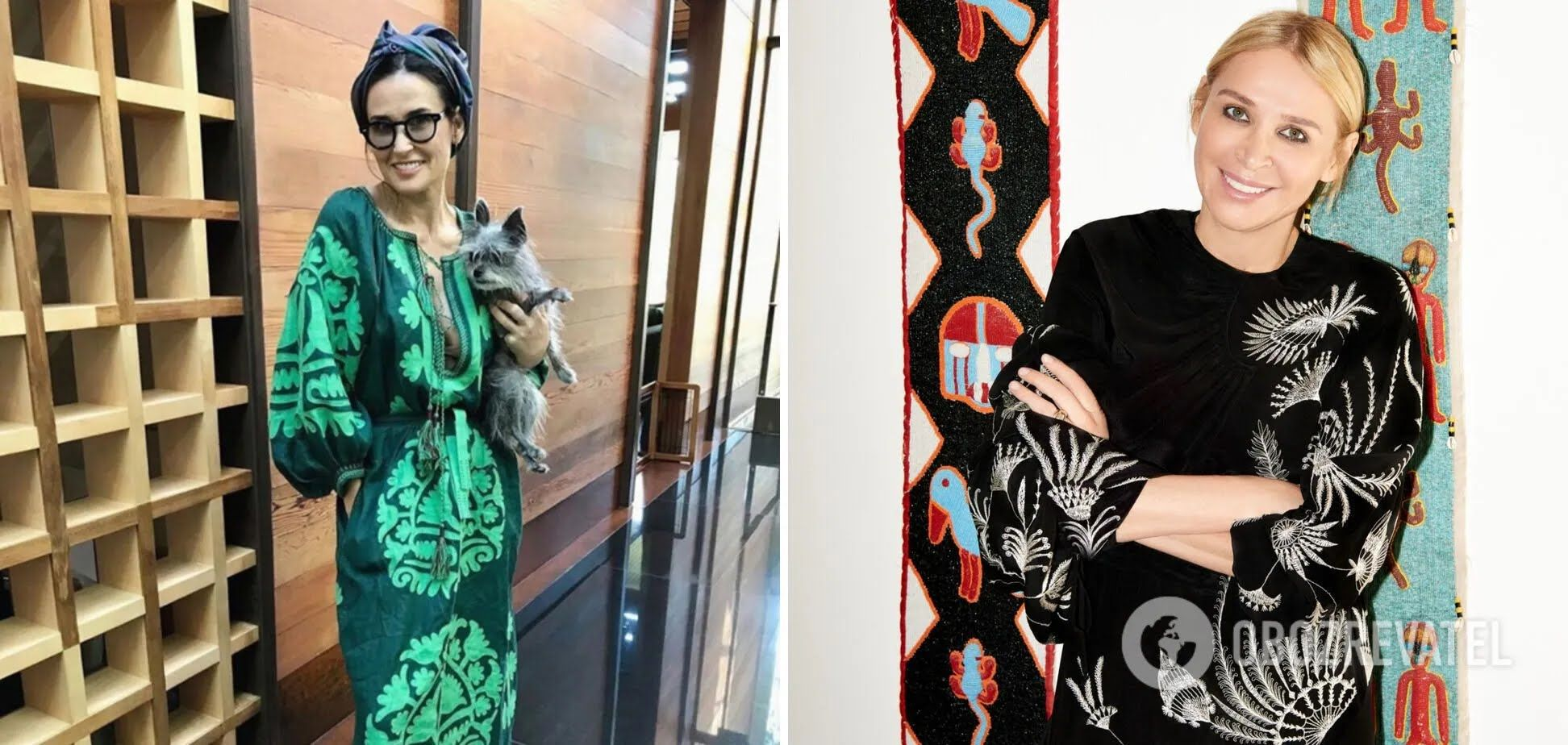 Деми Мур любит платья от Vita Kin.