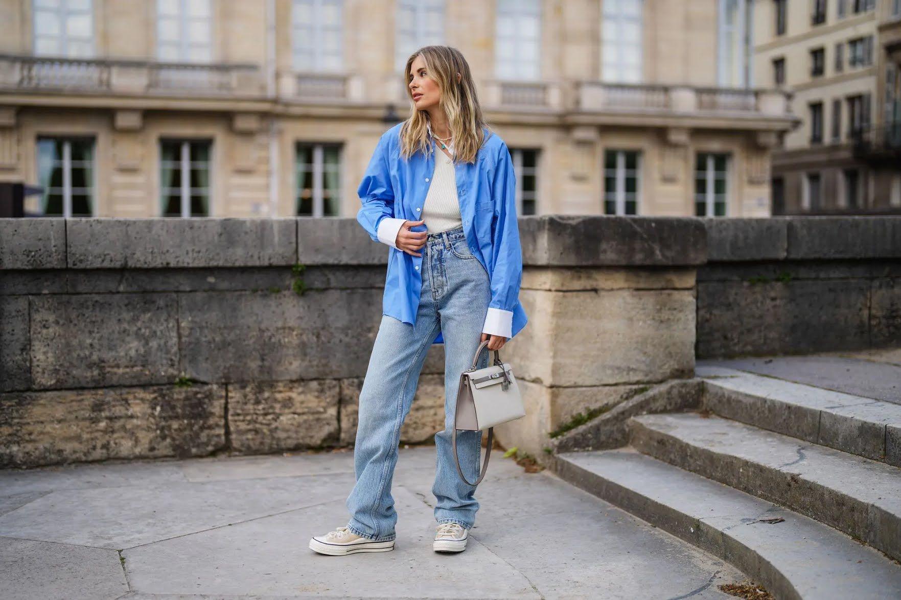 Модні широкі джинси