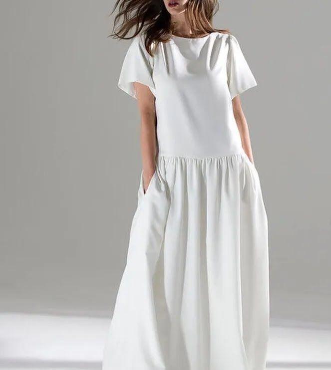 Свадебное платье-халат.