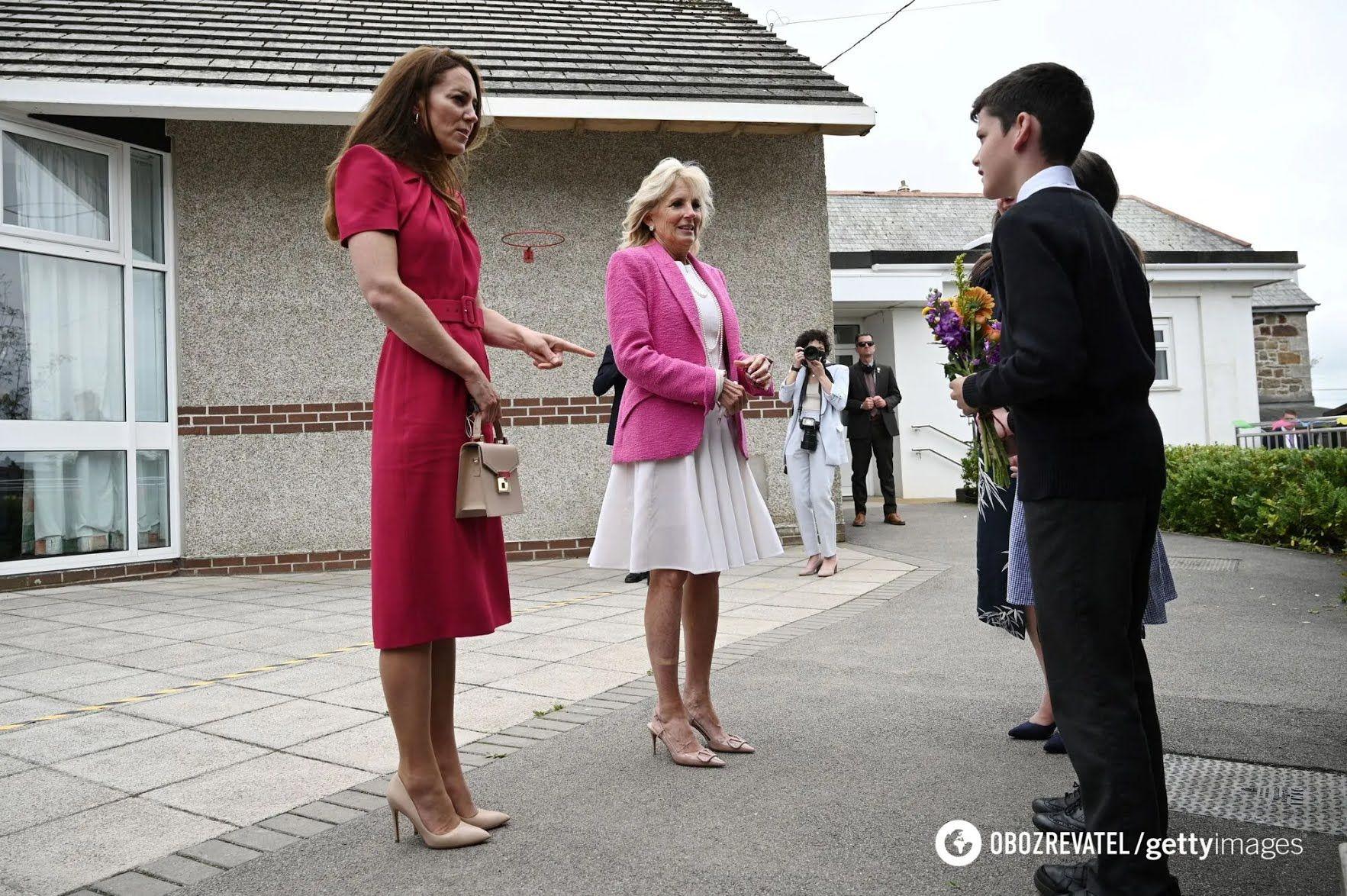 Герцогиня Кембриджская Кейт Миддлтон и первая леди США Джилл Байден