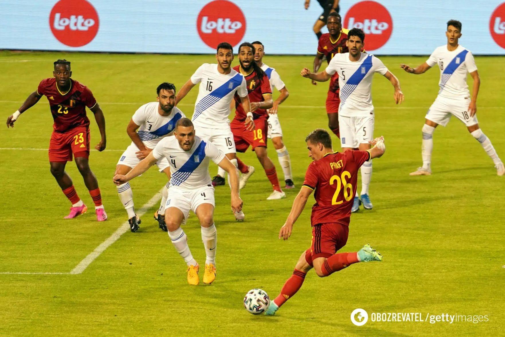 Бельгия накануне Евро-2020 сыграла с Грецией.