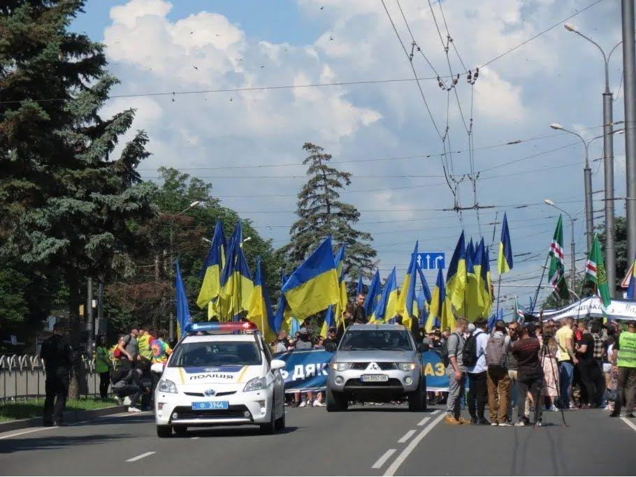 В Мариуполе состоялся марш