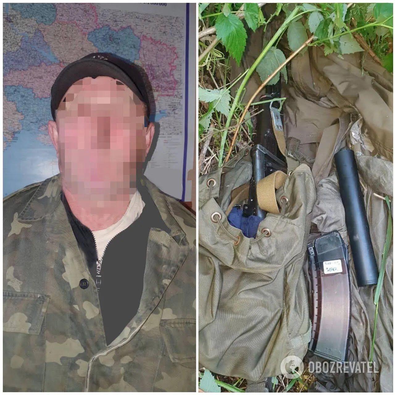 Підозрюваний у вбивстві Олександр Мальцев і вміст його схованки.