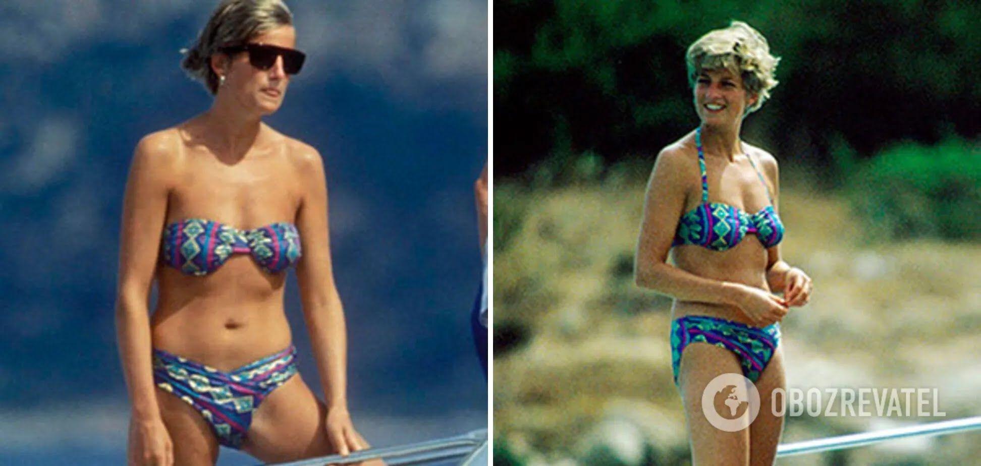 На острові Сардинія принцеса демонструє прекрасну спортивну фігуру.