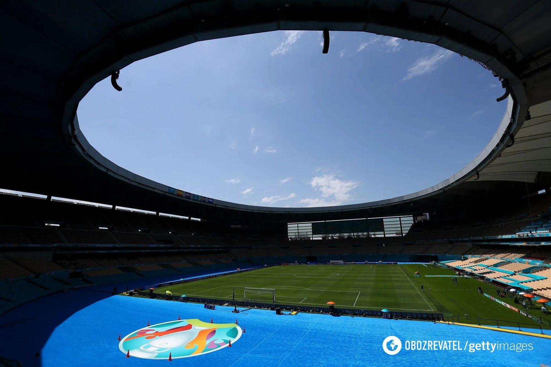 Олимпийский стадион в Севилье.