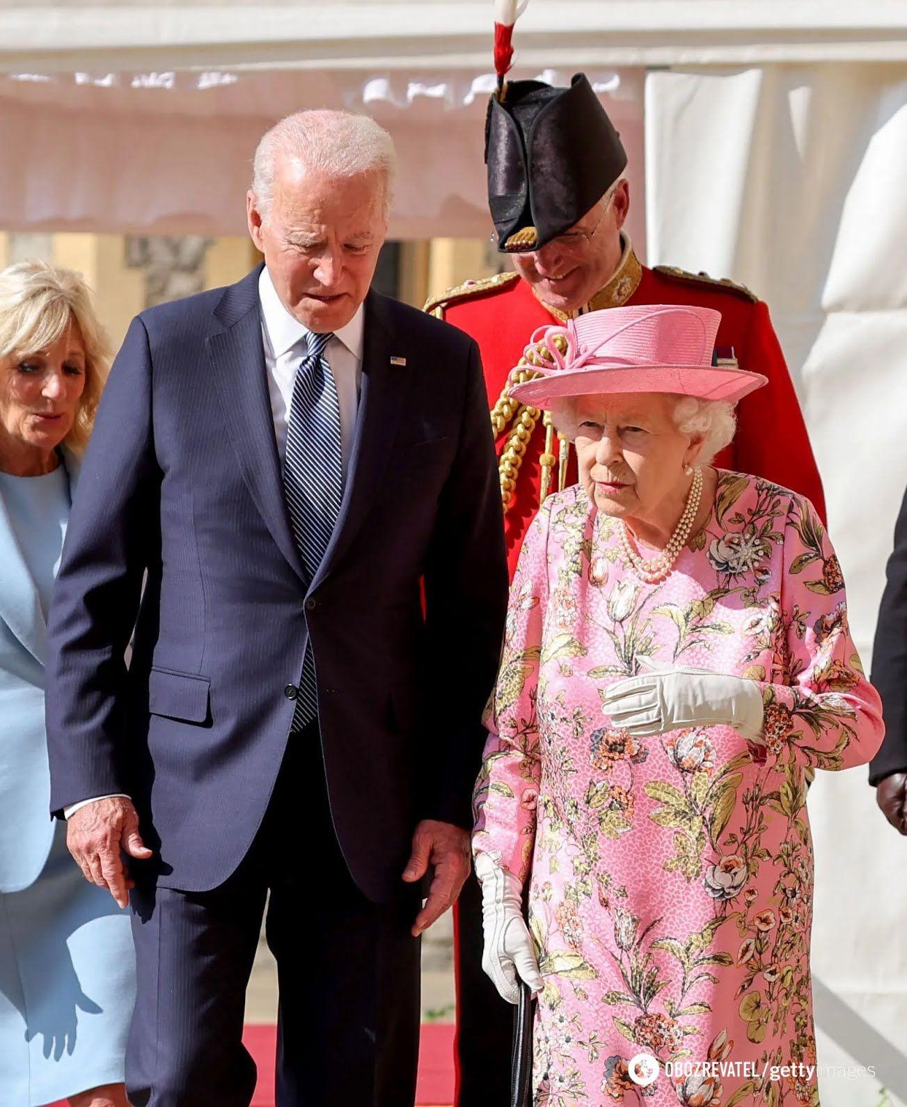 Джо Байден і Єлизавета II