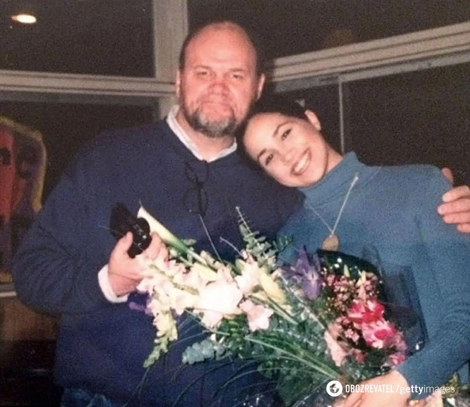 Томас Маркл с дочерью Меган