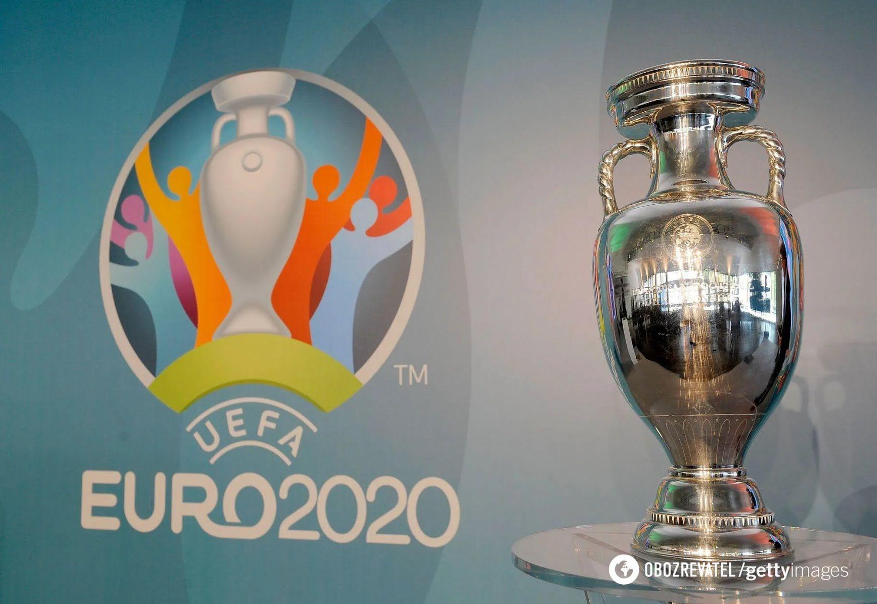 Трофей и логотип Евро-2020