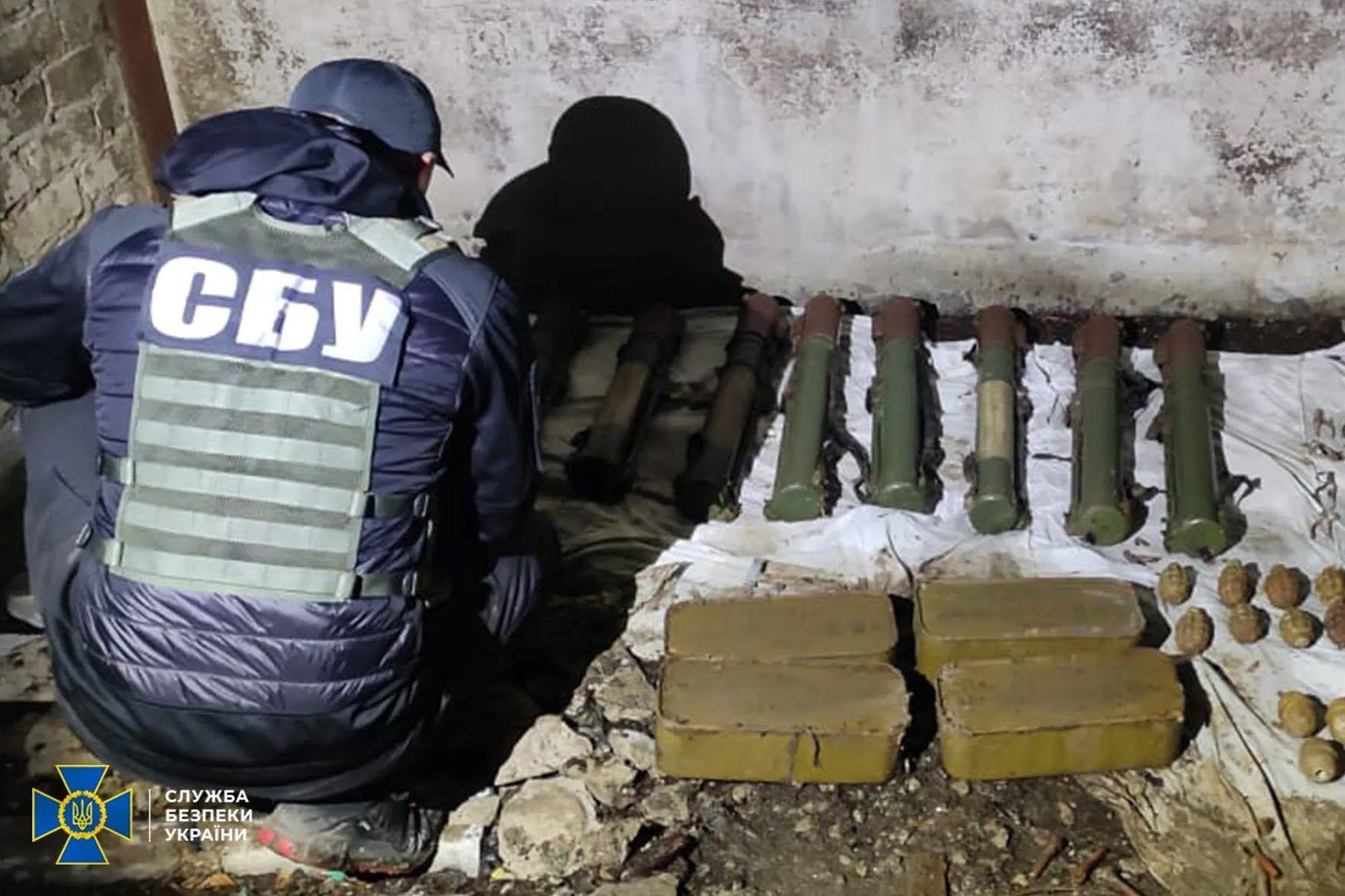 На Донбассе нашли тайник.
