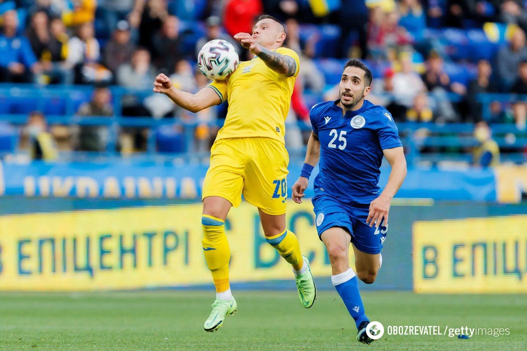 Александр Зубков в игре с Кипром.