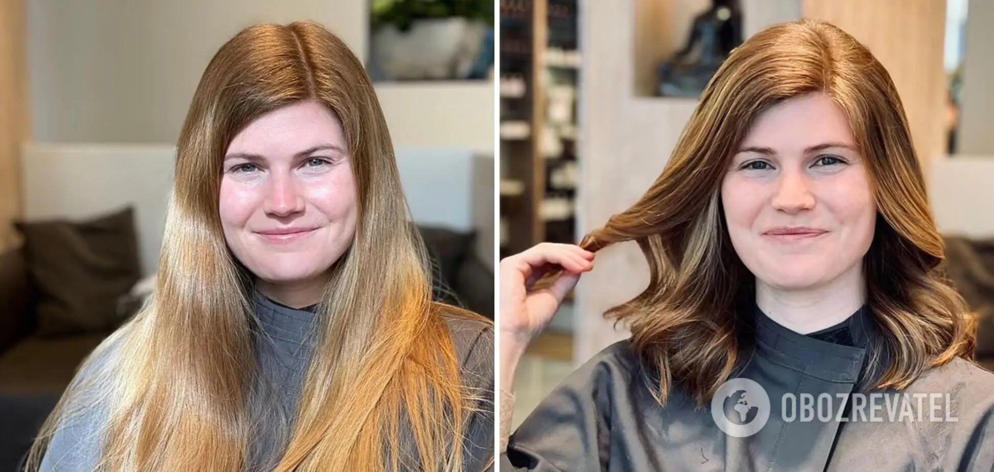 Як змінилася зачіска другий учасниці експерименту.