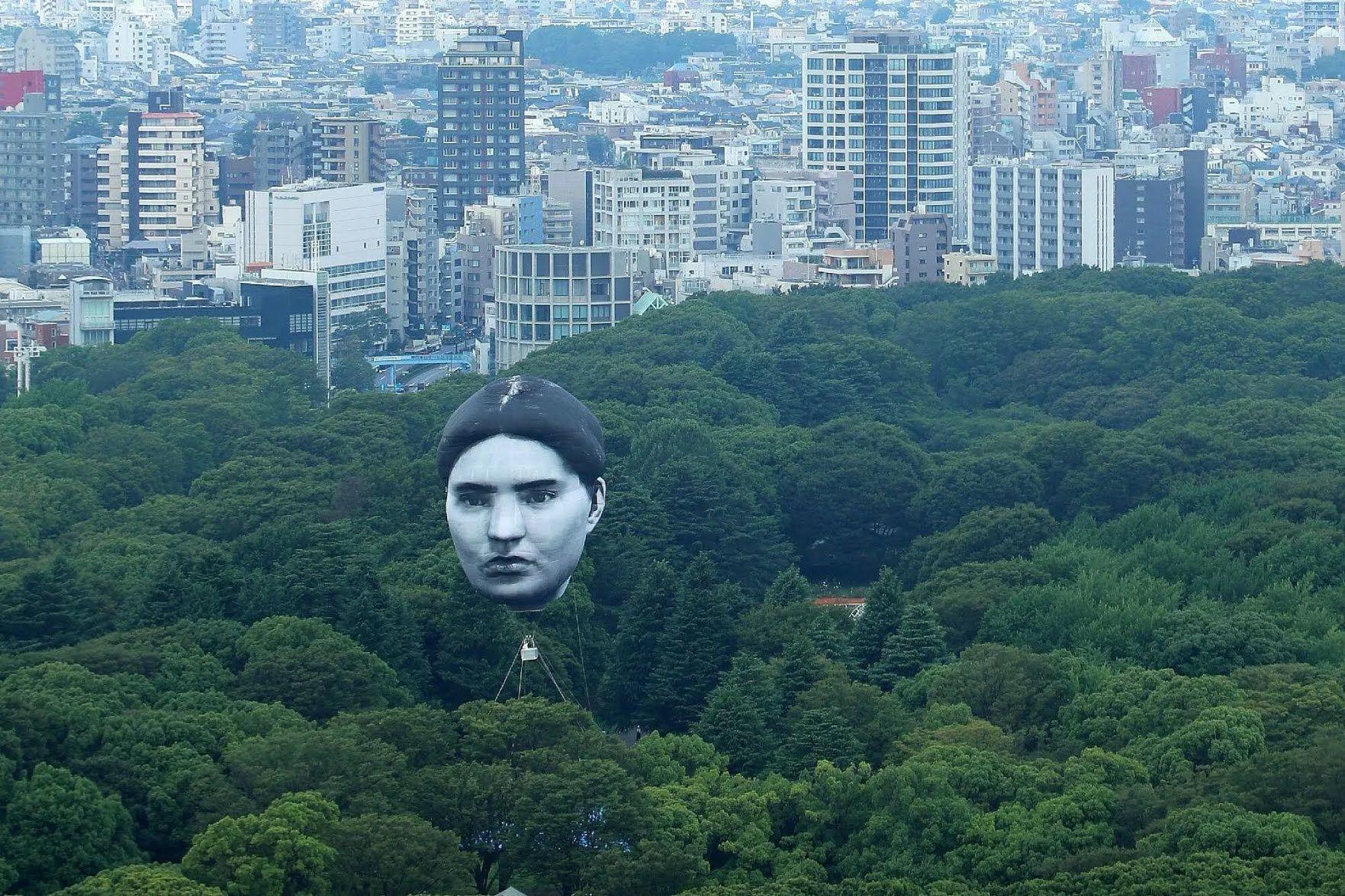 Огромный воздушный шар в Токио