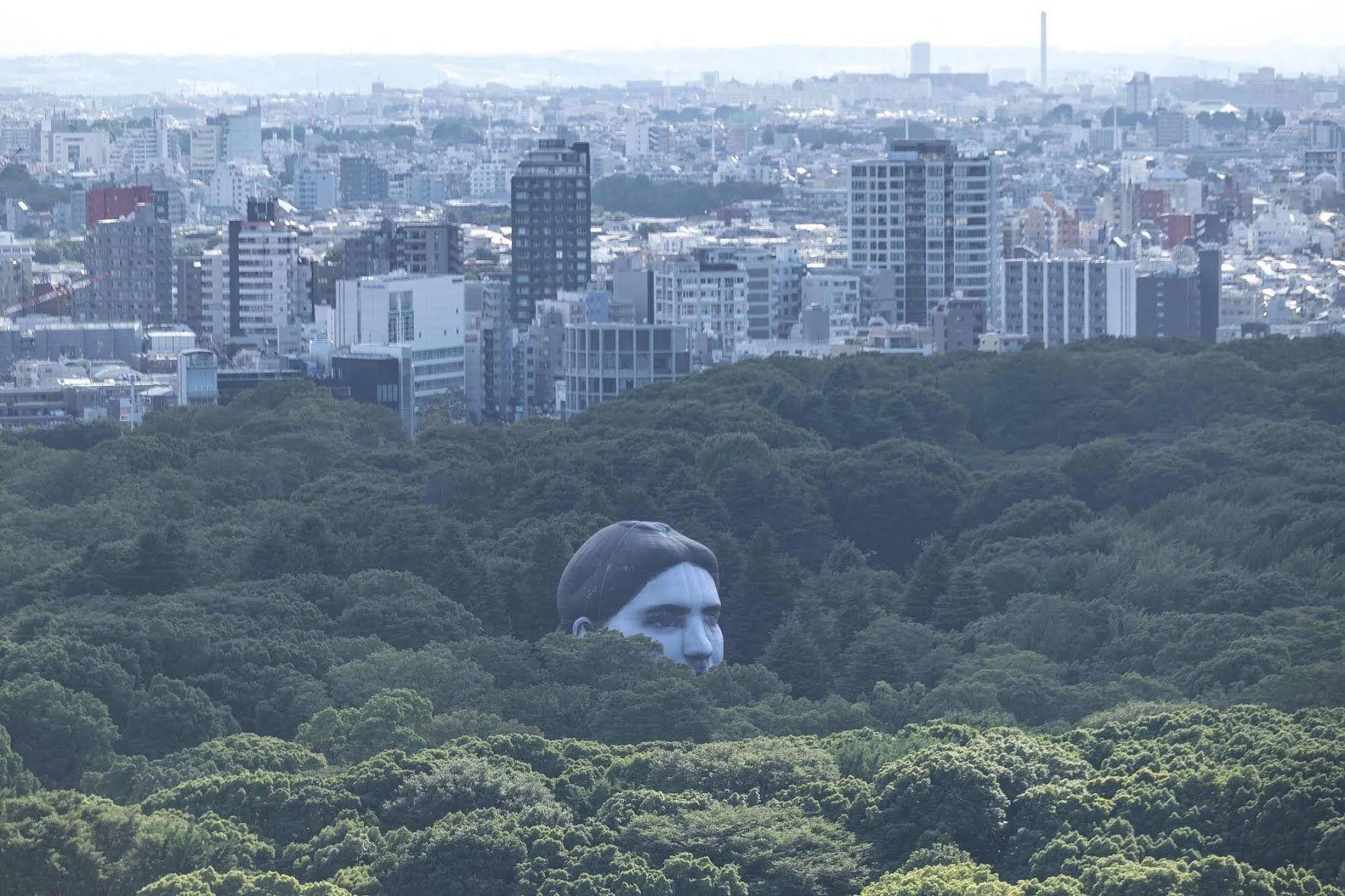 В Токио установили необычный воздушный шар