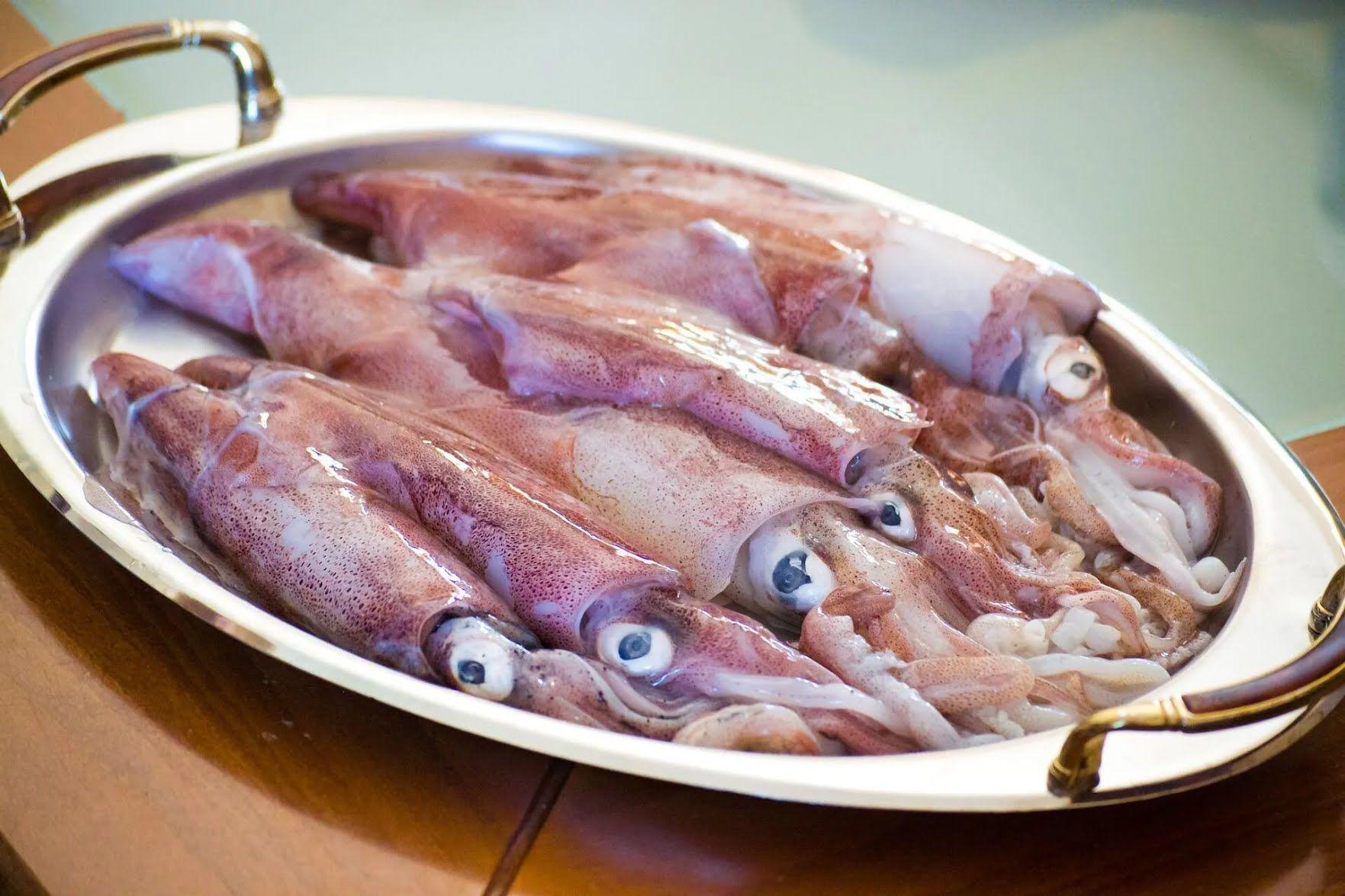 Из кальмара можно сделать очень вкусный фарш